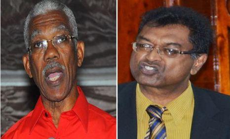 CLUELESS: President David Granger and Public Security Minister Khemraj Ramjattan