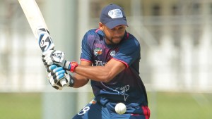 File photo - Alex Amsterdam was one of the players who came through a player combine trial last year for a place in the ICC Americas squad that played the WICB Nagico Super50 tournament (WICB Media/Ashley Allen Photo)