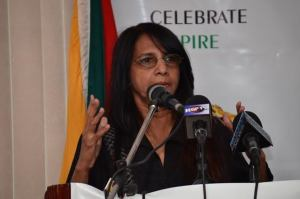 Artistic Director for the 50th Anniversary celebrations,  Dr. Seeta Shah- Roath addressing the launch