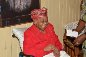 Happy to be alive! Mrs. Olive Blackmore turns 105 years old next month. (GINA photo)