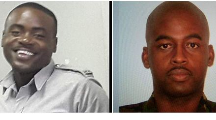 KILLED: Constable Jason John  and Corporal Jerry Leacock
