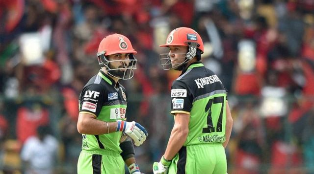 Virat Kohli and AB de Villiers put together 229 runs for the second wicket against Gujarat Lions. (Source: PTI)