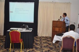 Enrique Monize, Coordinator, Amerindian Land Titling Project during his presentation
