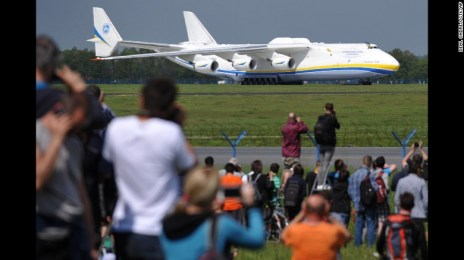 The biggest airplane in the world, the Antonov AN-225 Mriya, arrived from its base in Kiev, Ukraine, at Vaclav Havel Airport in Prague, Czech Republic, on May 10. Click through the gallery to see more images of this one-of-a-kind flying machine.