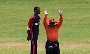 Guyana umpire Gyananad Sukhdeo (right) passed away at the age of 41. ©WICB