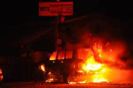 Vehicles as well as Khooblall's house were set on fire on elections day last year