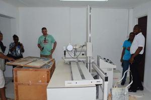The x-ray machine at Parika Health Centre already set up