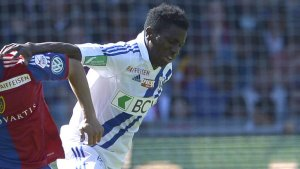 Patrick Ekeng pictured while playing for Lausanne-Sport in 2014 (Skysports photo)
