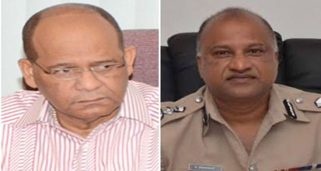 'TRADING BARBS': Former Home Affairs Minister Clement Rohee and Police Commissioner Seelall Persaud