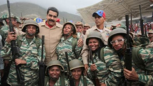 President Maduro said the country's armed forces and militia were prepared to meet any threat