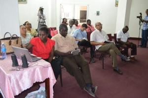 Persons at the Digital Tent Guyana launch at the National Library