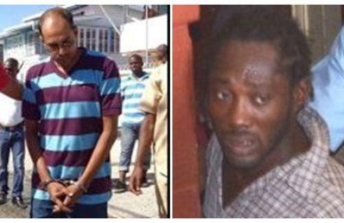 Husband of Babita Sarjou, Sharadananda Narine (L) and the alleged hitman, Darel Pronton