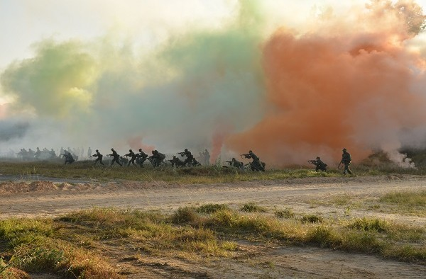GDF Officers during 'Exercise Greenheart' which focuses on close country warfare training and demonstrates military capacity.