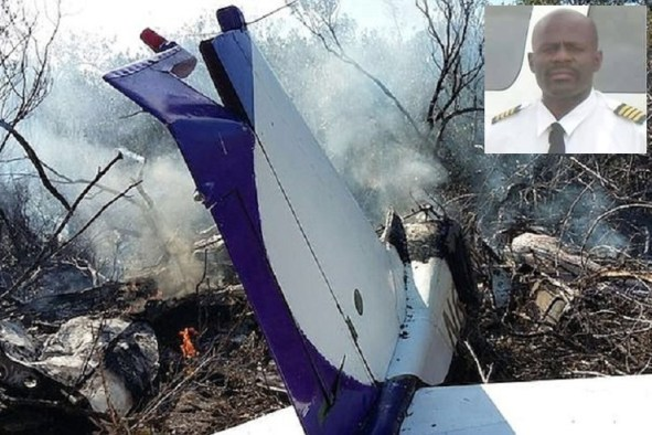 Pilot Terrence 'Tango' Gibson (inset) was one of two people who died in Sunday's plane crash.