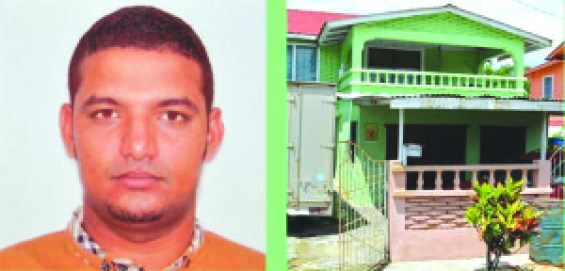 Businessman Dhaniram Tirbeni and the home that was invaded by the bandits