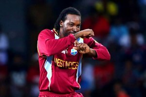 Chris Gayle in dancing mood