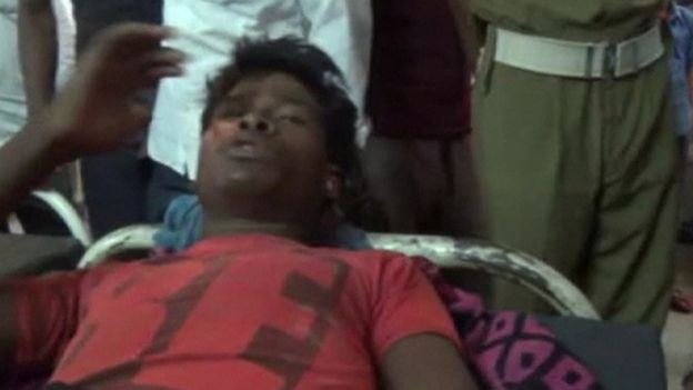 This man, who was taken to hospital in Bihar, told journalists he had been knocked out by the lightning (Reuters photo)