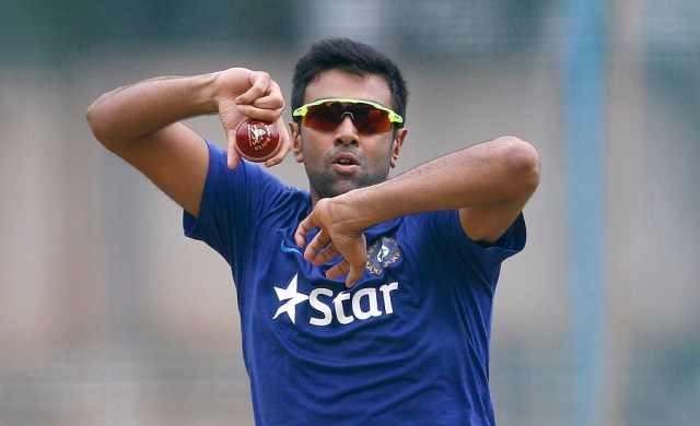 Indian cricketer Ravichandran Ashwin bowls during a training session at National Cricket Academy in Bangalore, India, Friday, July 1, 2016. Indian cricket team is scheduled to travel to West Indies to play a four-match test series starting July 21, 2016. (AP Photo/Aijaz Rahi)