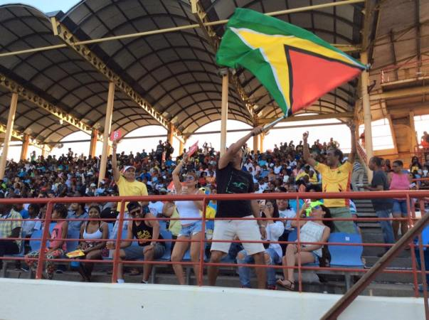 Guyanese cricket fans at a previous CPL match (CPL T20 photo/Facebook)