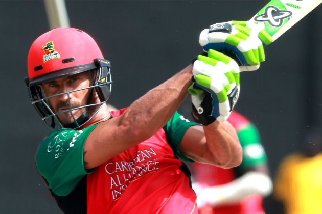 St. Kitts & Nevis Patriots captain Faf du Plessis (CPL photo)