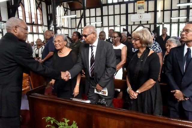 President David Granger extends condolences to the relatives of the late Bishop Randolph George (GINA photo)