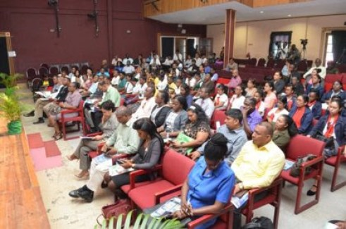 A section of a crowd at the launch of the Green Engineering Syllabus