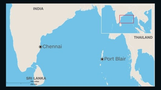 The missing Indian Air Force plane took off from Chennai, India, on the morning of Friday, July 22, 2016, and was scheduled to land at Port Blair. (Image: CNN)