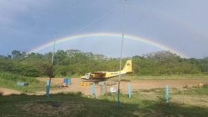'FLASHBACK' - The Islander aircraft that failed to takeoff today at Eteringbang airstrip
