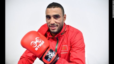 Hassan Saada, a light heavyweight, had been set to fight Saturday against Turkey's Nadir Mehmet Unal. (CNN photo)