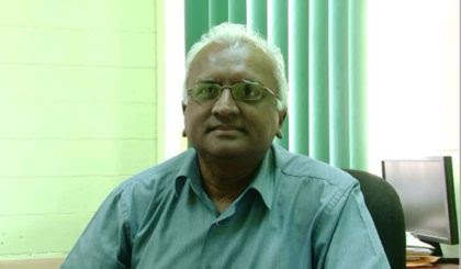 Head of the MIS unit of the Ministry of Education Yoganand Indarsingh