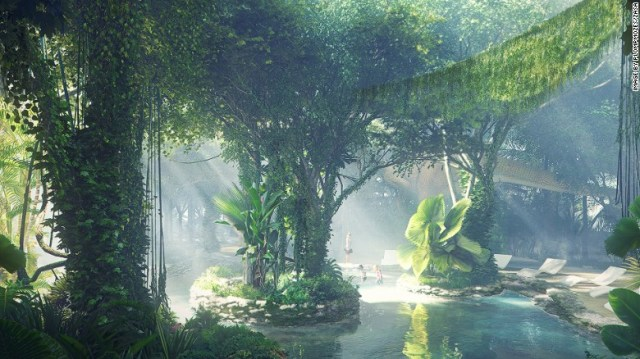 Dubai's latest megaproject: a rainforest in the desert. (CNN photo)
