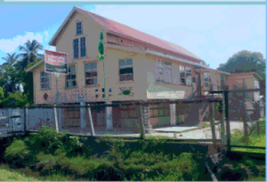 The closed Buxton Primary School, East Coast Demerara