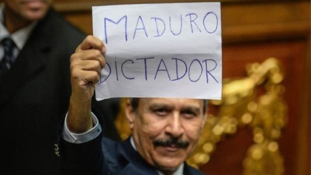 "AFP Image-Opposition lawmakers accused President Maduro of being a ""dictator"""