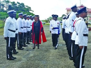 The criminal session opened with Justice Priya Sewnarine-Beharry inspecting the ranks