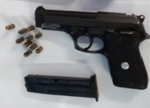 Firearm and ammunition found at Mount Sinai, New Amsterdam