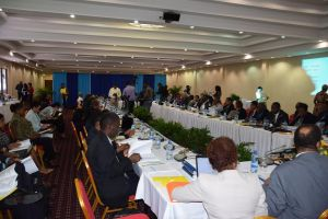 Some of the members of Council for Trade and Economic Development (COTED) at its 43rd meeting at the Princess Hotel