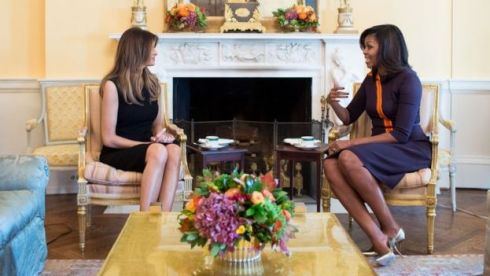 The future and current first ladies met at the White House following the election result