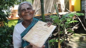 """Mother nature – Thimmakka believes it was her fate not to have children, instead planting hundreds of banyan trees with her husband as a way of receiving """"blessings."""""""