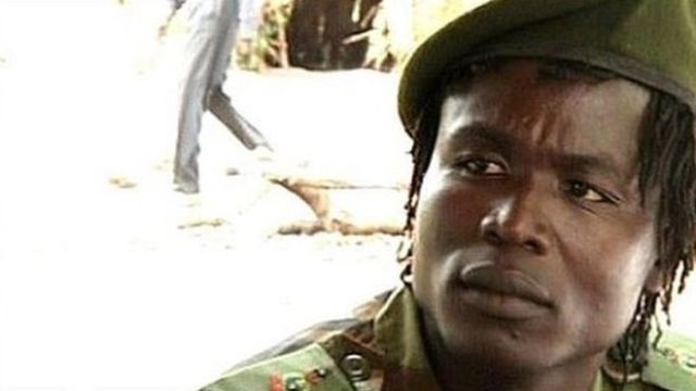 Mr Ongwen is said to have had a volatile relationship with LRA leader Joseph Kony (BBC photo)