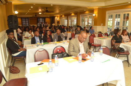 State legal practitioners and other guests at the trainings session