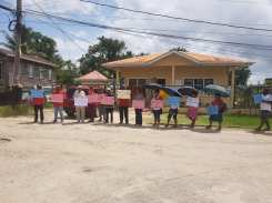 Some protesters at Bartica, Region 7
