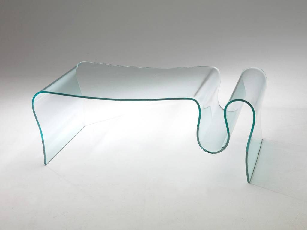 Table Basse De Salon En Verre Courb Dharma