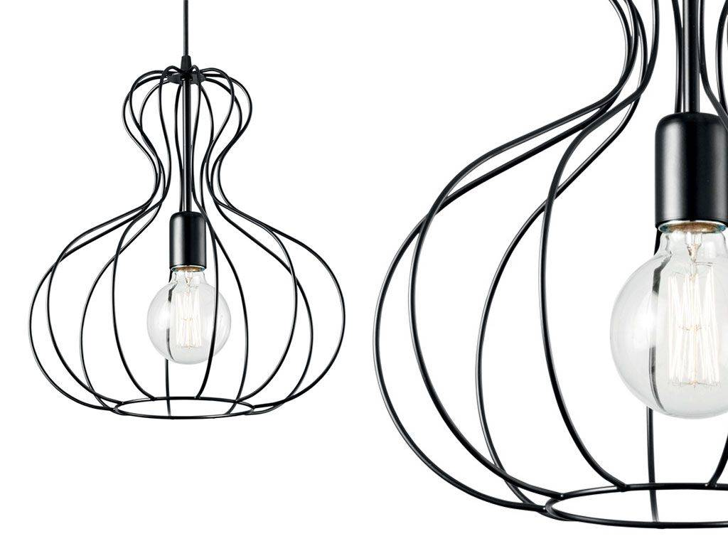 Hanging Lamp With Metal Structure Ampolla