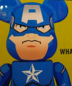 Be@rBrick Captain America poster