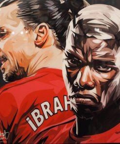 Manchester United Poster Plaque featuringZlatan Ibrahimović & Paul Pogba