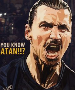 Zlatan Ibrahimovic Paris Saint Germain Poster
