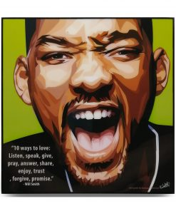 Will Smith Pop Art Poster by Keetatat Sitthiket