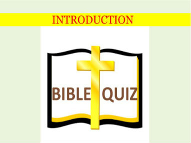Bible study quiz set 1
