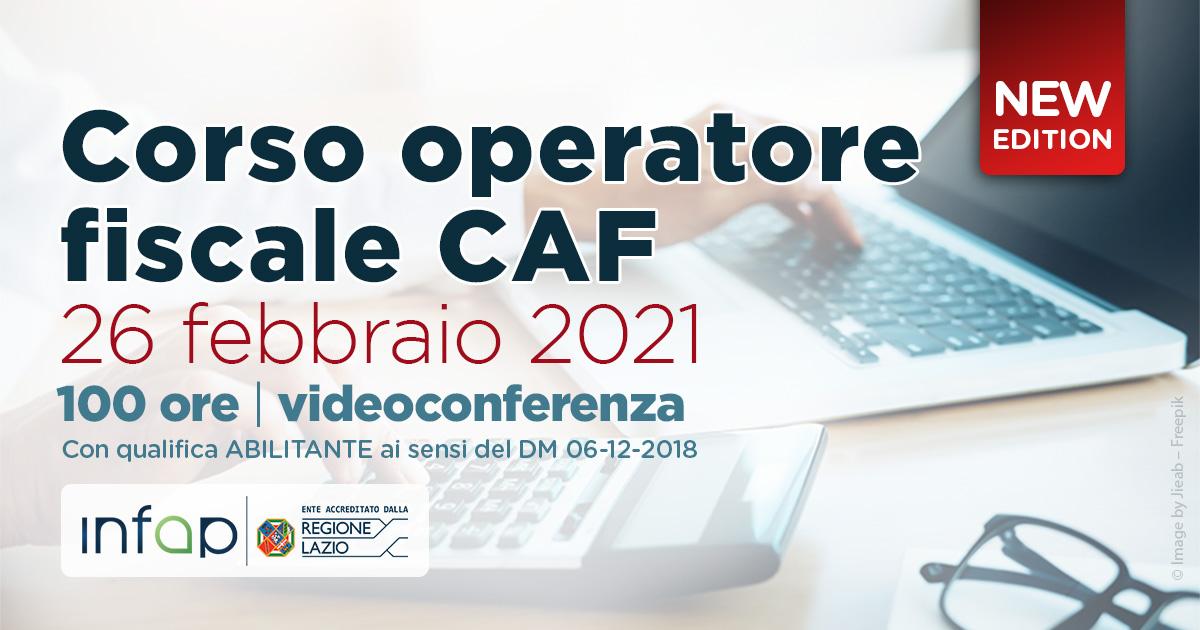 Corso Operatore CAF 2021