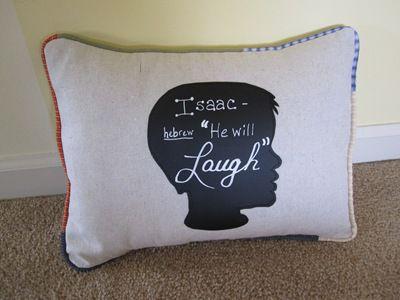 Chalkboard Silhouette Pillow